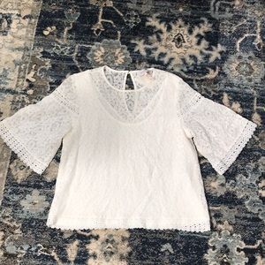 White Lace blouse M by Laundry Shelli Segal